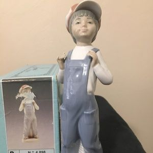 Lladro Boy with Accordion, retired, w/box